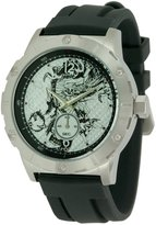 Ed Hardy Men's Matrix MX-BK Black Silicone Quartz Watch with Dial
