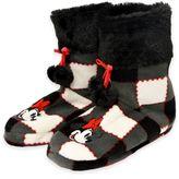 Disney Minnie Mouse Plaid Pom Pom Slipper Boot