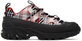 Burberry Black and Red Arthur Story Sneakers