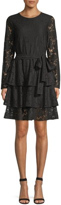 Michael Kors Lace Tiered Dress