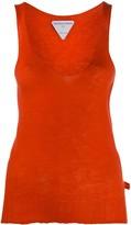 Bottega Veneta Ribbed Hem Unfinished Knitted Top