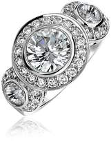 Bling Jewelry Sterling Silver CZ Pave Triple Circlet Ring