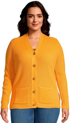 Lands' End Plus Size Drifter Shaker Cardigan Sweater