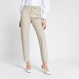 River Island Ecru Blair high rise straight jeans
