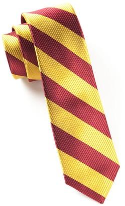 Tie Bar Classic Twill Burgundy Tie