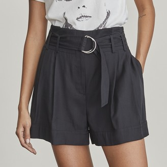 Elizabeth and James Women's Paperbag-Waist Shorts