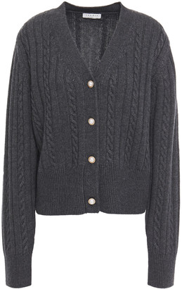 Sandro Jinale Cable-knit Wool-blend Cardigan