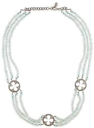 Cathy Waterman Platinum Aquamarine & Diamond Choker