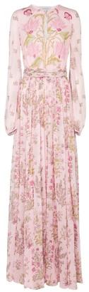 Giambattista Valli Floral silk crepe gown