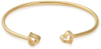 Alex and Ani 14K Gold Plated Sterling Silver Formidable Heart Cuff