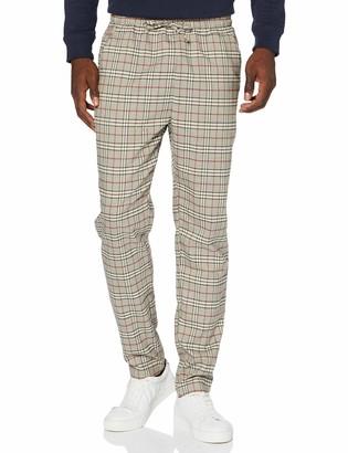 Urban Classics Men's Tapered Check Jogger Pants Trouser