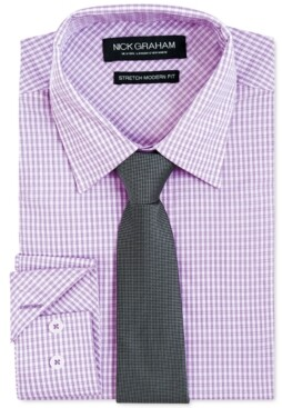 Nick Graham Men's Modern-Fit Dress Shirt & Tie