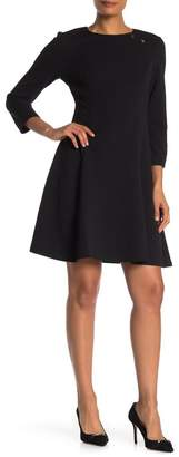 London Times 3/4 Sleeve Fit & Flare Dress