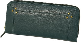 Jerome Dreyfuss Turquoise Leather Clutch bags