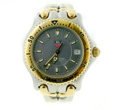 Tag Heuer Sel WG1120-0 Stainless Steel / 1Gold Plated with Gray Dial 38mm Mens Watch
