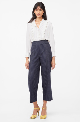Rebecca Taylor Tailored Mixed Pinstripe Pant