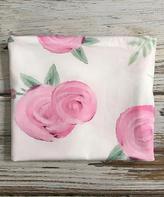 Cream & Pink Floral Raw-Edge Stretch Wrap