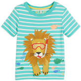 Joules Striped Underwater Sea Lion Tee, Size 3-6