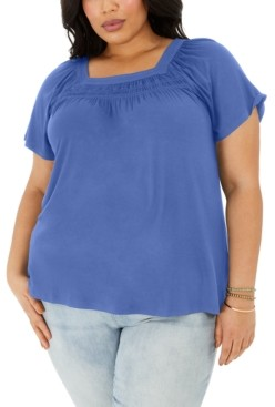 Style&Co. Style & Co Plus Size Square-Neck Top, Created for Macy's
