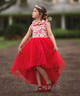 Scully Trish Child Girls' Special Occasion Dresses CRIMSON - Crimson Rose Aslow Hi-Low Dress - Toddler