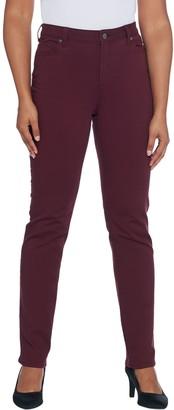 Dennis Basso Stretch Twill 5-Pocket Straight-Leg Jeans