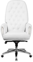 House Of Hampton Millport High Back Tufted Multifunction Executive Chair House of Hampton Upholstery: White