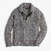 J.Crew Wallace & Barnes full-zip shawl-collar sweater in Donegal wool
