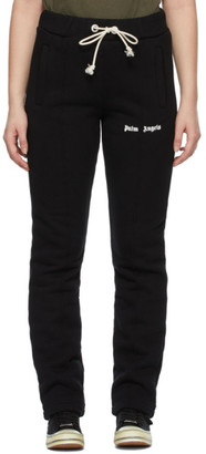 Palm Angels Black Slim Logo Lounge Pants