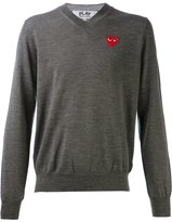 Comme des Garcons embroidered heart jumper - men - Wool - XL
