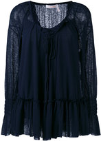 See by Chloe ruffle blouse - women - Cotton/Polyester - XS