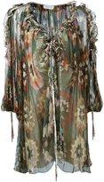 Chloé ruffled neckline printed dress