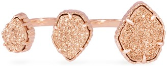 Kendra Scott Naomi Double Ring in Rose Gold Drusy