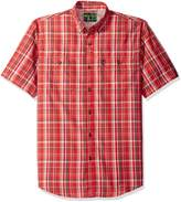 G.H. Bass Men's Explorer Fancy Short Sleeve Plaid Shirt