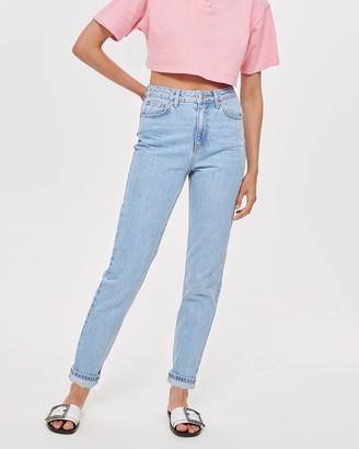 Topshop Petite PETITE Bleach Mom Jeans