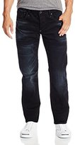 G Star Men's Attack Low Straight Fit Jean In Black Hydrite Denim