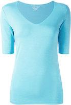 Majestic Filatures V-neck slim-fit blouse - women - Viscose/Elastodiene - 1