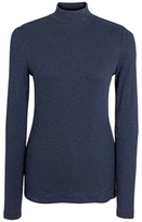 Fat Face Turtle Neck Rib Top, Navy