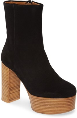 Free People Friday Night Platform Leather Boot