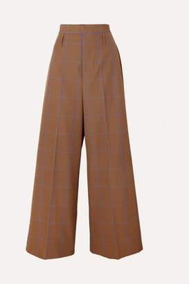 Vivienne Westwood Puppytooth Tweed Wide-leg Pants - Camel