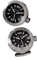 Jan Leslie Gunmetal Watch Cuff Links