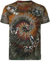 Valentino 'Rockstud Tie & Dye' butterfly embroidered T-shirt