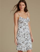 Marks and Spencer Floral Print Strappy Chemise