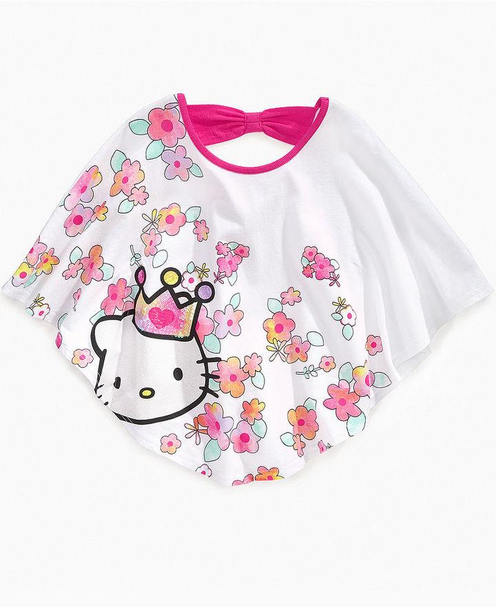 Hello Kitty Kids Shirt, Little Girls Circle Sequin Top
