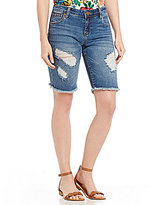 KUT from the Kloth Catherine Destruction Frayed Hem Bermuda Shorts