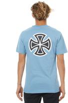 Independent Bar Cross Mens Tee Blue