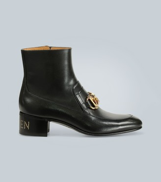 Gucci Horsebit chain leather boots
