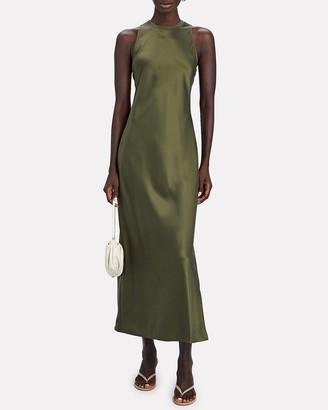 Frame Silk Racerback Maxi Dress
