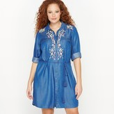 CASTALUNA Embroidered Shirt Dress