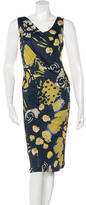 Piazza Sempione Printed Midi Dress w/ Tags