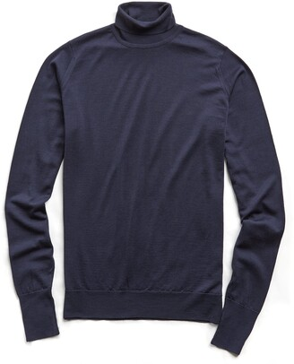 John Smedley Sweaters Easy Fit Turtleneck in Midnight